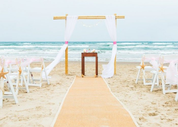 Beach Wedding on SPI, Texas
