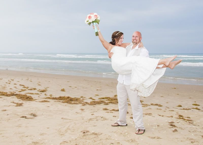 Carrying Bride - South Padre Sands Wedding