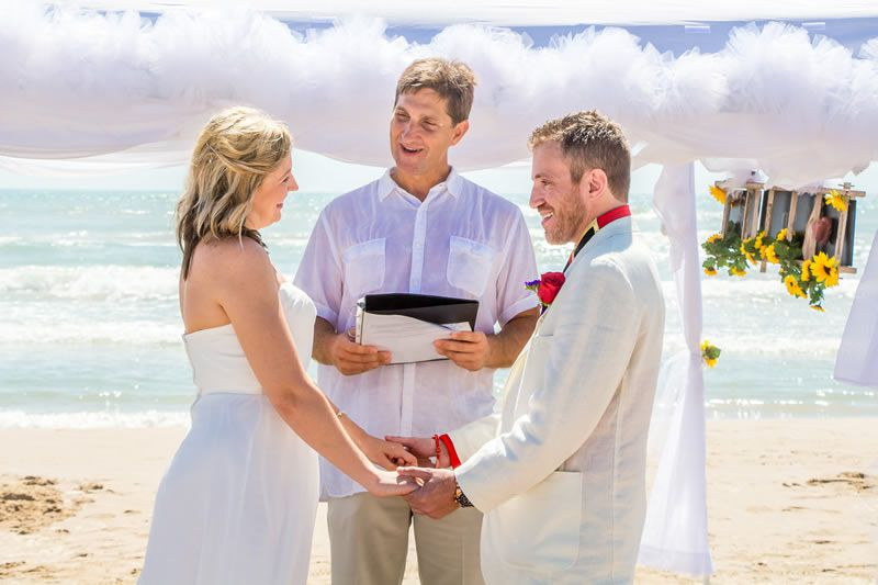 Sunflowers Beach Wedding by South Padre Sands
